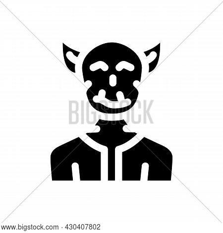 Troll Fantasy Character Glyph Icon Vector. Troll Fantasy Character Sign. Isolated Contour Symbol Bla