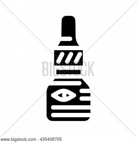 Eye Drops Ophthalmology Glyph Icon Vector. Eye Drops Ophthalmology Sign. Isolated Contour Symbol Bla