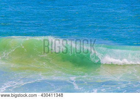 Strong Waves Praia Lopes Mendes Beach Ilha Grande Island Brazil.