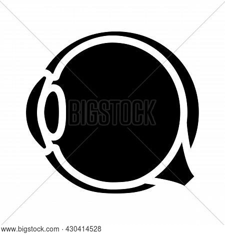 Eye Treatment Ophthalmology Glyph Icon Vector. Eye Treatment Ophthalmology Sign. Isolated Contour Sy