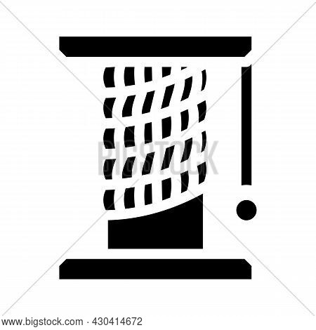 Cat Pet Toy Stand Glyph Icon Vector. Cat Pet Toy Stand Sign. Isolated Contour Symbol Black Illustrat
