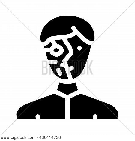 Cyborg Robot Glyph Icon Vector. Cyborg Robot Sign. Isolated Contour Symbol Black Illustration