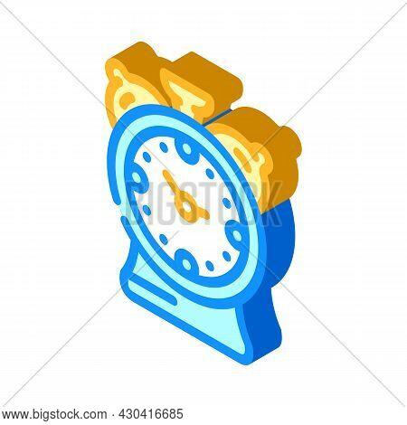 Alarm Clock Isometric Icon Vector. Alarm Clock Sign. Isolated Symbol Illustration