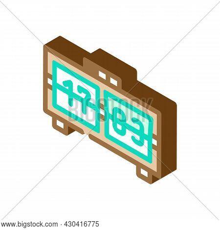 Mechanical Clock Isometric Icon Vector. Mechanical Clock Sign. Isolated Symbol Illustration