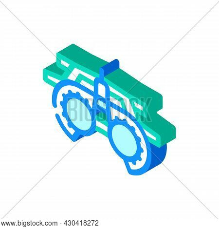 Trial Frame Ophthalmology Isometric Icon Vector. Trial Frame Ophthalmology Sign. Isolated Symbol Ill