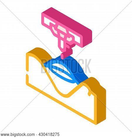Laser Correction Ophthalmology Isometric Icon Vector. Laser Correction Ophthalmology Sign. Isolated