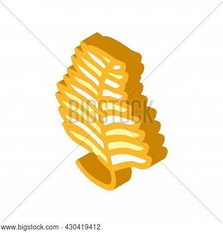 Undaria Plumose Seaweed Isometric Icon Vector. Undaria Plumose Seaweed Sign. Isolated Symbol Illustr