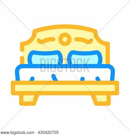 Bedroom Furniture Color Icon Vector. Bedroom Furniture Sign. Isolated Symbol Illustration