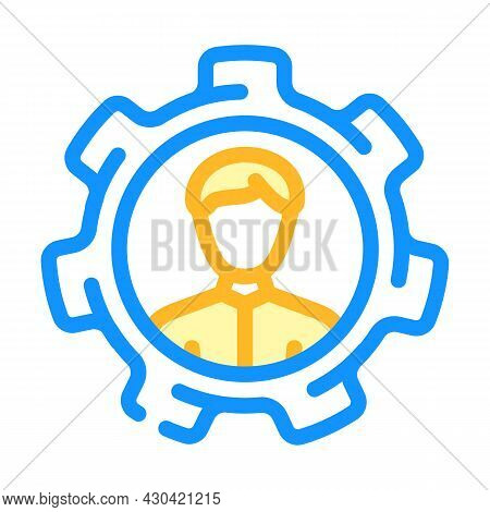 Perfectly Employee Candidate Color Icon Vector. Perfectly Employee Candidate Sign. Isolated Symbol I
