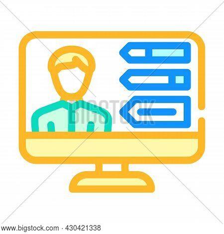 Skills Human Employee Color Icon Vector. Skills Human Employee Sign. Isolated Symbol Illustration