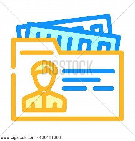 Private Business Businessman Color Icon Vector. Private Business Businessman Sign. Isolated Symbol I