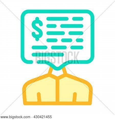 Salary Money Talks Color Icon Vector. Salary Money Talks Sign. Isolated Symbol Illustration