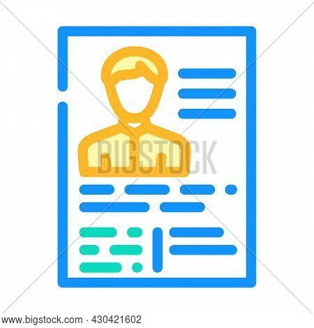 Application Form Cv Color Icon Vector. Application Form Cv Sign. Isolated Symbol Illustration