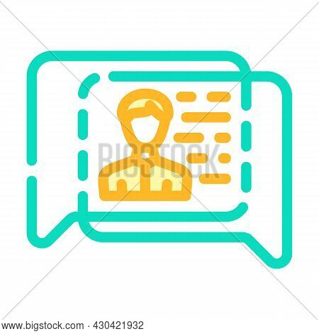 Human Discussion Color Icon Vector. Human Discussion Sign. Isolated Symbol Illustration