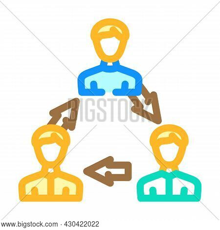 Interaction People Color Icon Vector. Interaction People Sign. Isolated Symbol Illustration