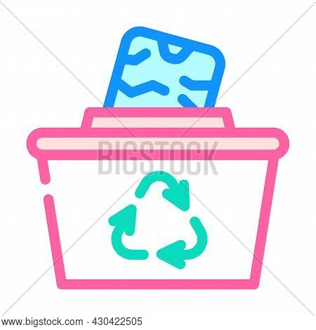 Reuse Solid Waste Color Icon Vector. Reuse Solid Waste Sign. Isolated Symbol Illustration