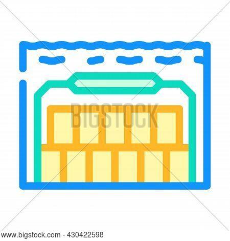 Special Underwater Burial Color Icon Vector. Special Underwater Burial Sign. Isolated Symbol Illustr