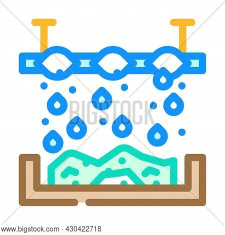 Chemical Treatment Solid Waste Color Icon Vector. Chemical Treatment Solid Waste Sign. Isolated Symb