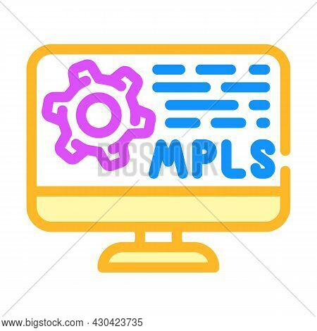 Mpls Protocol Color Icon Vector. Mpls Protocol Sign. Isolated Symbol Illustration