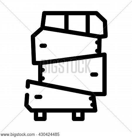 Non-standard Furniture Line Icon Vector. Non-standard Furniture Sign. Isolated Contour Symbol Black