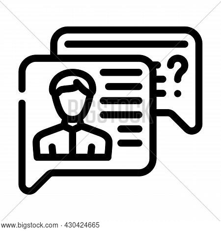 Employee Discussion Line Icon Vector. Employee Discussion Sign. Isolated Contour Symbol Black Illust