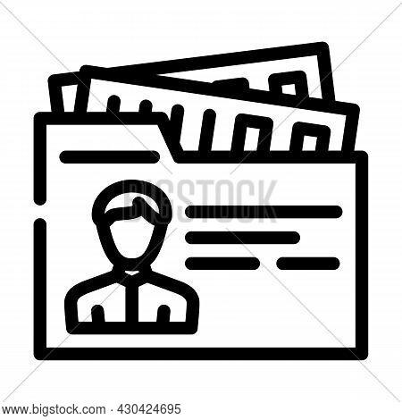 Private Business Businessman Line Icon Vector. Private Business Businessman Sign. Isolated Contour S
