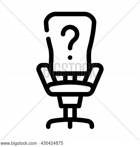 Employee Search Line Icon Vector. Employee Search Sign. Isolated Contour Symbol Black Illustration