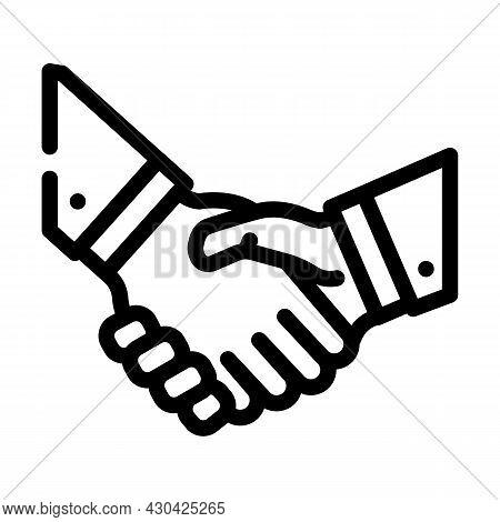 Handshake Partners Line Icon Vector. Handshake Partners Sign. Isolated Contour Symbol Black Illustra
