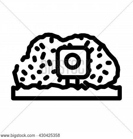 Photo Trap Gadget Line Icon Vector. Photo Trap Gadget Sign. Isolated Contour Symbol Black Illustrati