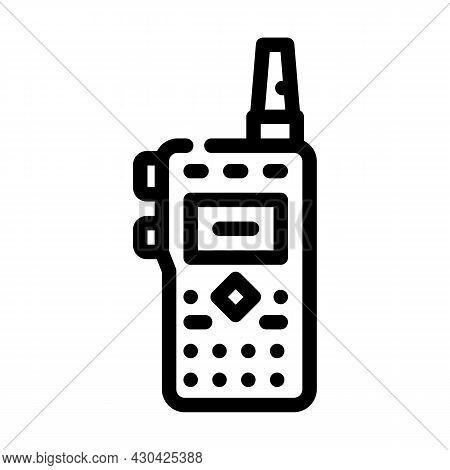 Walkie-talkie Electronic Device Line Icon Vector. Walkie-talkie Electronic Device Sign. Isolated Con