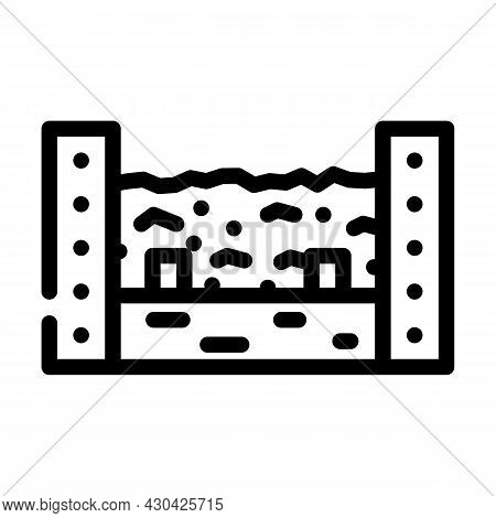 Composter Solid Waste Line Icon Vector. Composter Solid Waste Sign. Isolated Contour Symbol Black Il