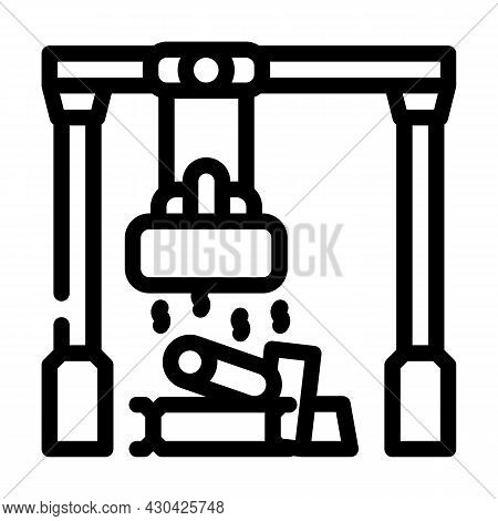 Sorting Metals Line Icon Vector. Sorting Metals Sign. Isolated Contour Symbol Black Illustration