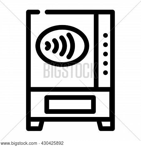 Contactless Payment Pay Pass Line Icon Vector. Contactless Payment Pay Pass Sign. Isolated Contour S