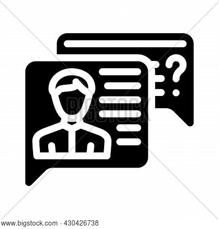 Employee Discussion Glyph Icon Vector. Employee Discussion Sign. Isolated Contour Symbol Black Illus