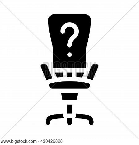 Employee Search Glyph Icon Vector. Employee Search Sign. Isolated Contour Symbol Black Illustration