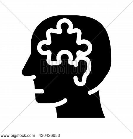 Puzzle Employee Problem And Task Glyph Icon Vector. Puzzle Employee Problem And Task Sign. Isolated
