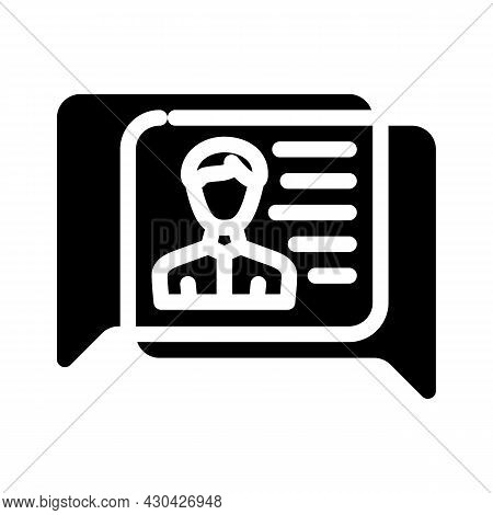 Human Discussion Glyph Icon Vector. Human Discussion Sign. Isolated Contour Symbol Black Illustratio