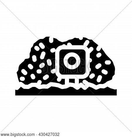Photo Trap Gadget Glyph Icon Vector. Photo Trap Gadget Sign. Isolated Contour Symbol Black Illustrat