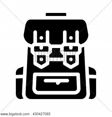 Backpack Accessory Glyph Icon Vector. Backpack Accessory Sign. Isolated Contour Symbol Black Illustr