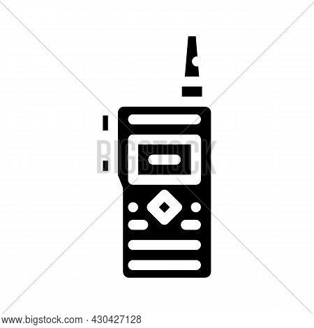 Walkie-talkie Electronic Device Glyph Icon Vector. Walkie-talkie Electronic Device Sign. Isolated Co