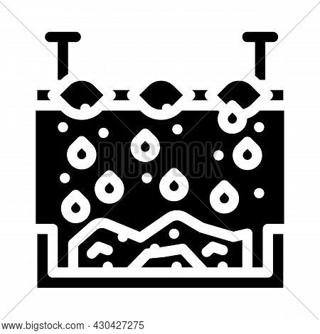 Chemical Treatment Solid Waste Glyph Icon Vector. Chemical Treatment Solid Waste Sign. Isolated Cont