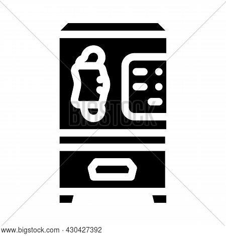 Medical Facial Mask Vending Machine Glyph Icon Vector. Medical Facial Mask Vending Machine Sign. Iso