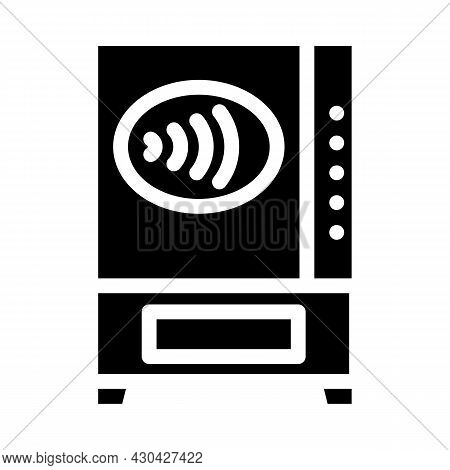 Contactless Payment Pay Pass Glyph Icon Vector. Contactless Payment Pay Pass Sign. Isolated Contour