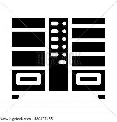 Double Vending Machine Glyph Icon Vector. Double Vending Machine Sign. Isolated Contour Symbol Black