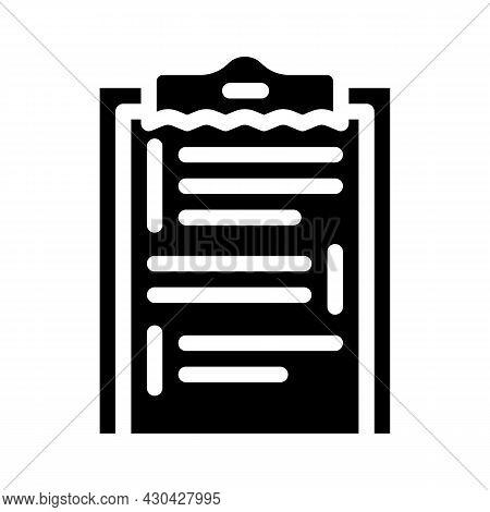 Scenario Movie Glyph Icon Vector. Scenario Movie Sign. Isolated Contour Symbol Black Illustration
