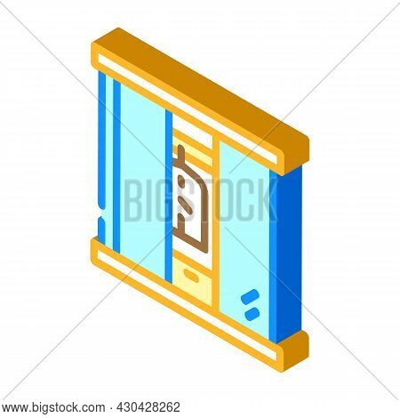 Wardrobe Cabinets Furniture Isometric Icon Vector. Wardrobe Cabinets Furniture Sign. Isolated Symbol
