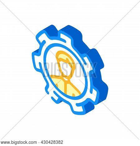 Perfectly Employee Candidate Isometric Icon Vector. Perfectly Employee Candidate Sign. Isolated Symb