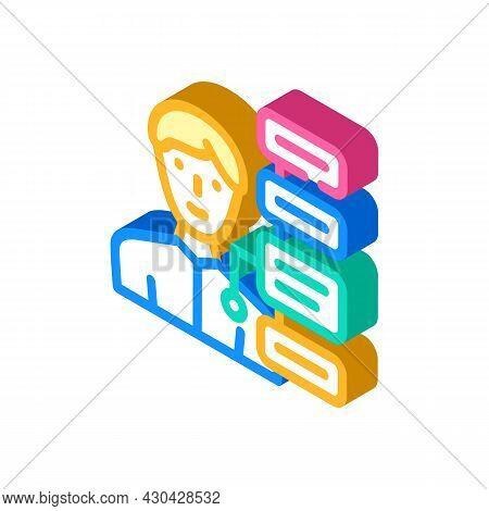 Human Qualities Isometric Icon Vector. Human Qualities Sign. Isolated Symbol Illustration