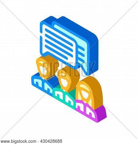Communication People Isometric Icon Vector. Communication People Sign. Isolated Symbol Illustration