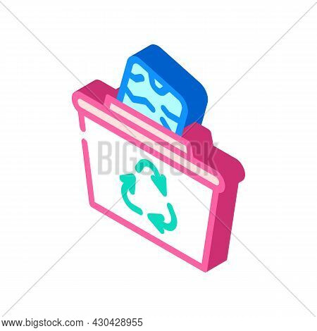Reuse Solid Waste Isometric Icon Vector. Reuse Solid Waste Sign. Isolated Symbol Illustration